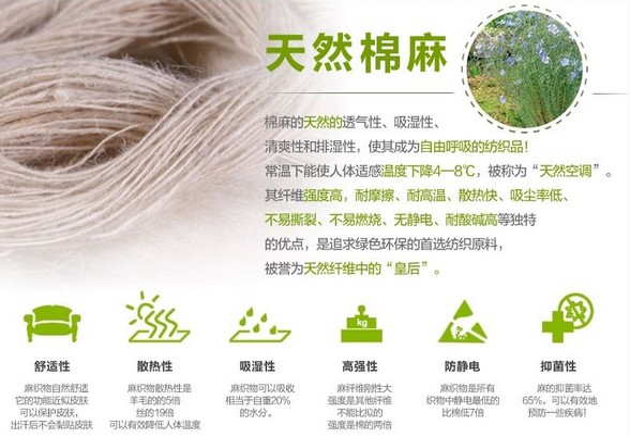 棉麻面料的特性